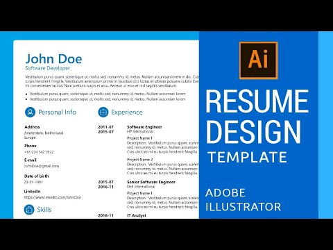 Resume Template Adobe Illustrator 94