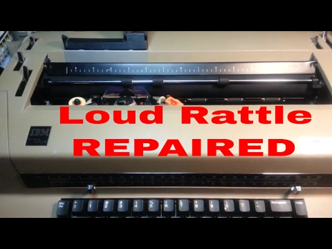IBM Selectric Typewriter Operational Cam Rattle Repair Fix