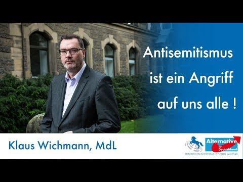 Antisemitismus ist ein Angriff auf uns alle! Klaus Wichmann, MdL (AfD) zum Terror von Halle