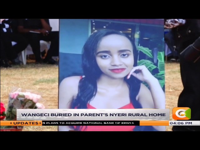 Ivy Wangeci buried in parent's Nyeri rural home