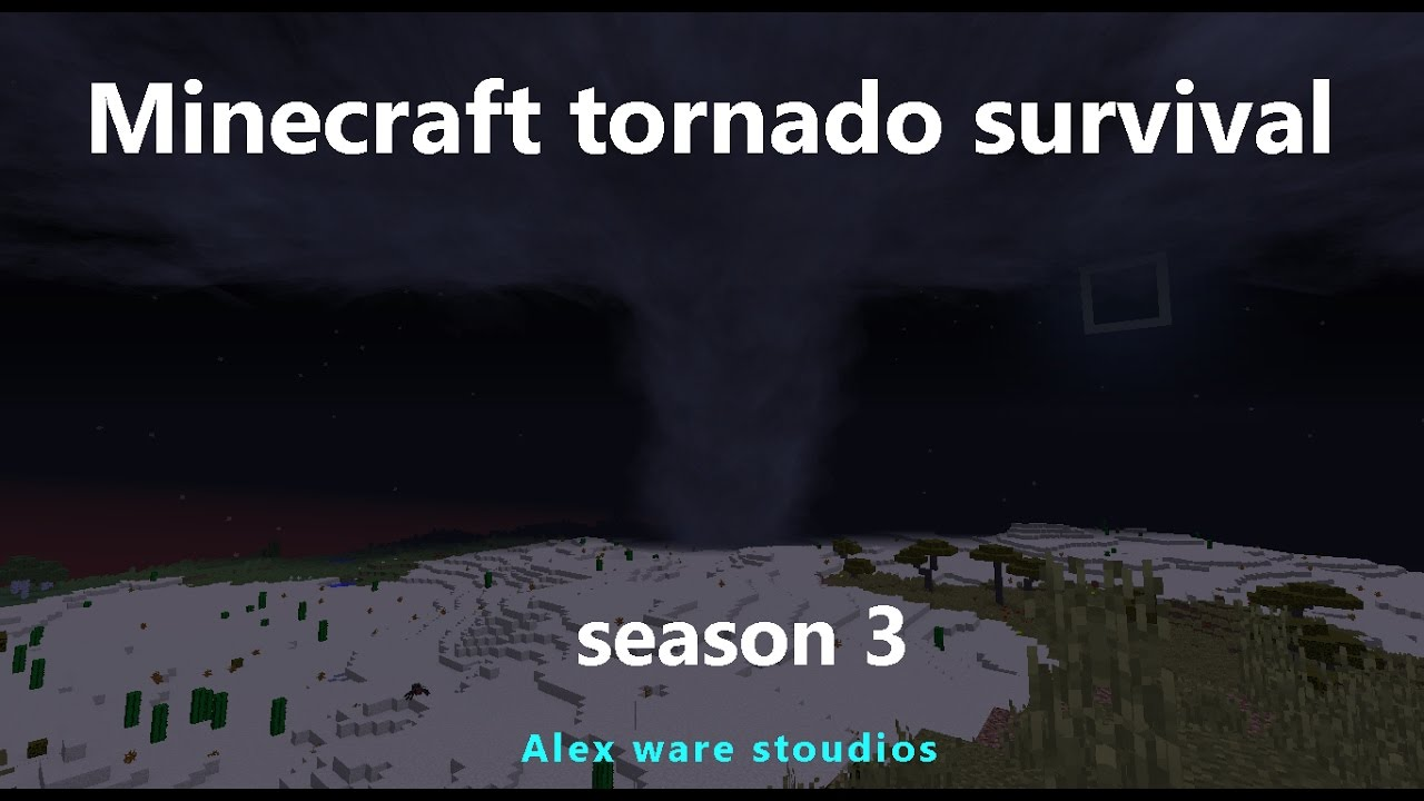 98c433177 Minecraft tornado survival (S3 E10) Two hail storm disaster - YouTube