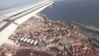 Pousando no aeroporto de Lisboa