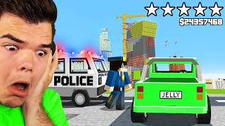 Playing GTA 5 In MINECRAFT! (5 Star Wanted)