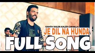 Kaler Chhalla Satnam-Kanth Kaler -FULL SONG LYRICS -SONG -JE DIL NA HUNDA-(WAPMIGHT)HD-