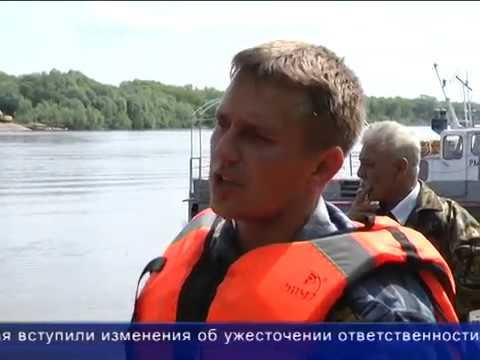 Рейд по Оке с РыбНадзором под Серпуховым. 2013г