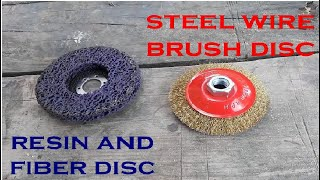 angle grinder discs for rust removal and paint stripping