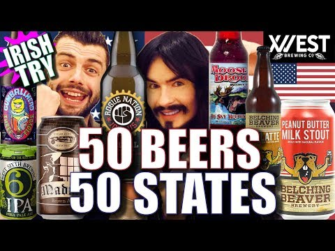 Irish People Try '50 BEERS' From '50 AMERICAN STATES!!