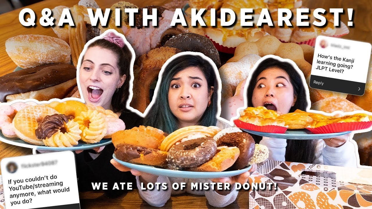 We Tried EVERY Mister Donut Flavour + Q&A WITH AKIDEAREST