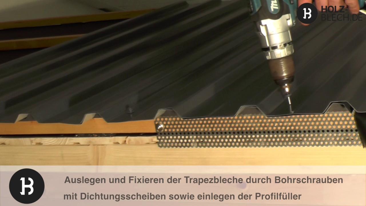 Gartenhaus-Dach Mit Trapezblech Decken – So Geht'S - Youtube
