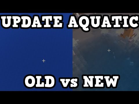 Minecraft 1.4 / 1.13 - NEW WATER vs OLD WATER (Aquatic)