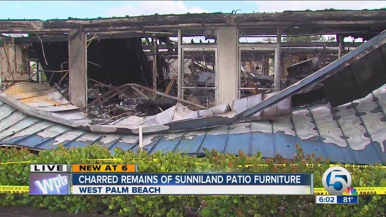 Charred Remains Of Sunniland Patio Furniture