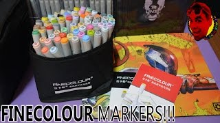 "FINECOLOUR Markers (72 ""Animation"" Set) from Aliexpress + (HOW TO DRAW MEGAMAN)"