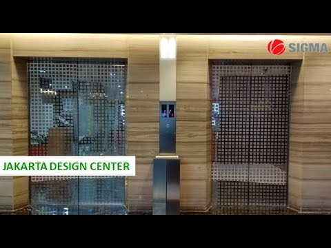 2 LG Traction Elevators at Jakarta Design Center, Jakarta