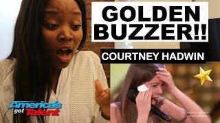 Courtney Hadwin: 13-Year-Old Golden Buzzer - REACTION - America's Got Talent 2018   ibukola
