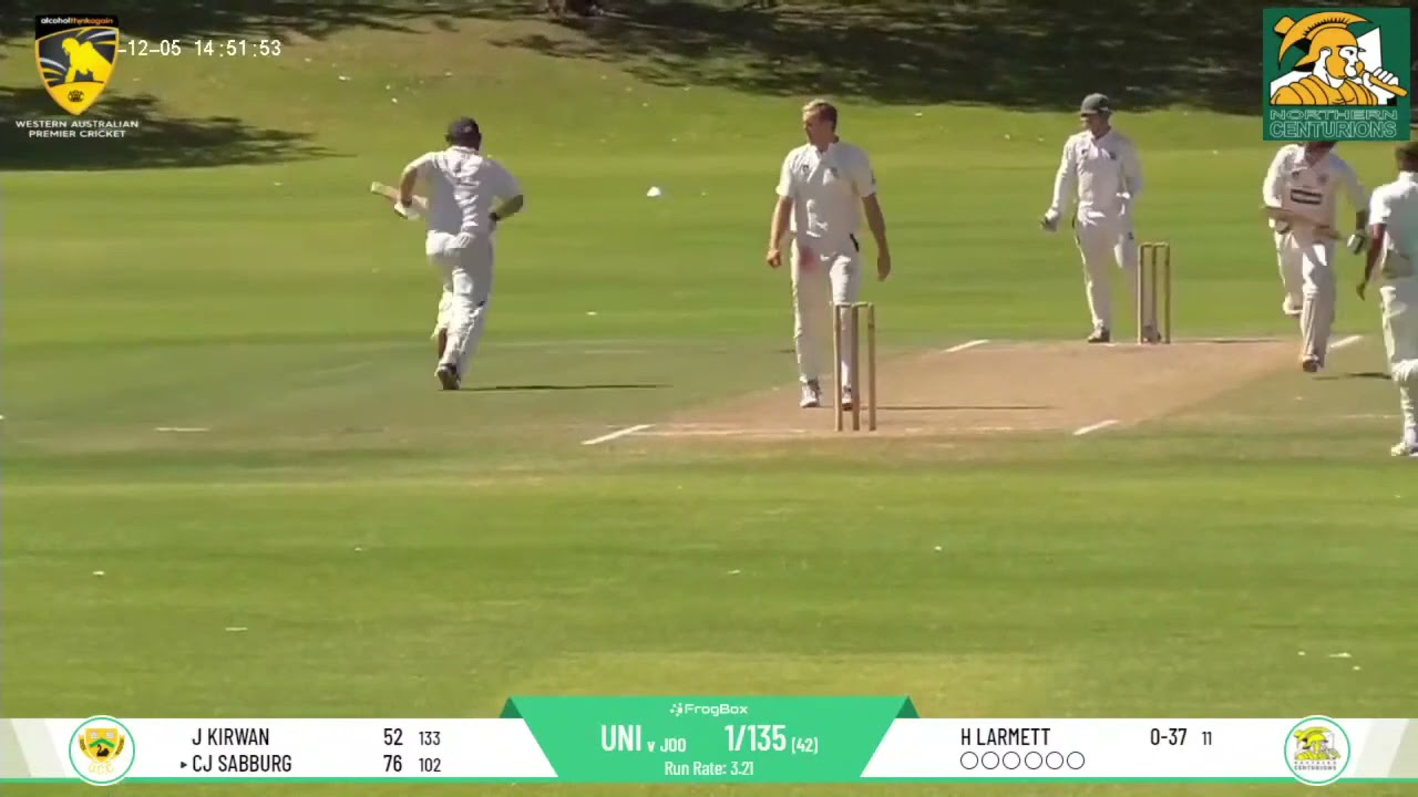 UCC vs Joondalup DCC Round 7 First Grade - Chris Sabburg Double Ton Highlights Package