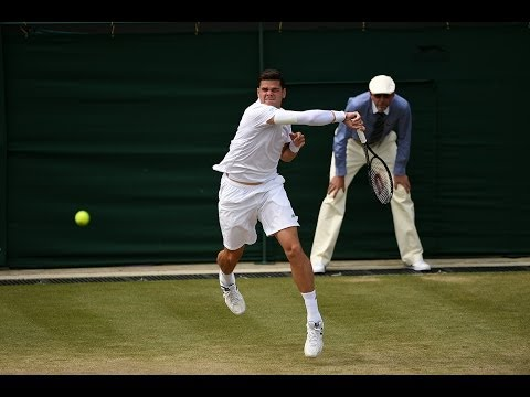 2014 Day 8 Highlights, Milos Raonic vs Kei Nishikori, Fourth Round