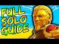 FULL IX SOLO EASTER EGG GUIDE!! // ALL STEPS & BOSS FIGHT TUTORIAL!! // BLACK OPS 4 ZOMBIES