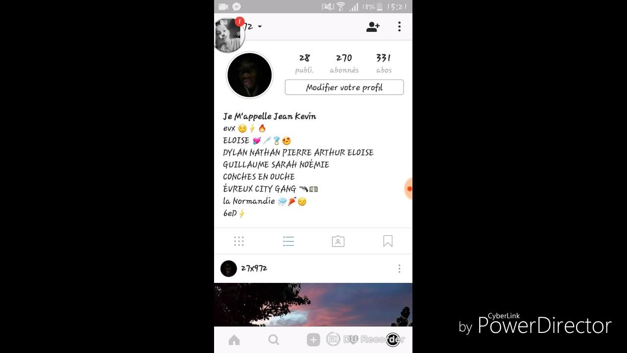 compte instagram privé