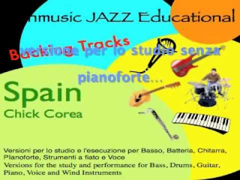 Spain Chick Corea Backing Tracks no Piano base senza Pianoforte