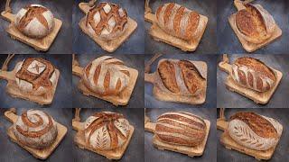 Sourdough Bread SCORING Techniques  Bread Scoring PATTERNS &amp DESIGNS