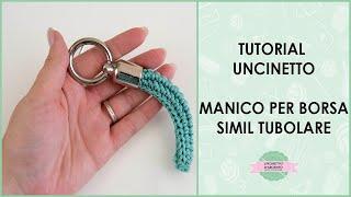 TUTORIAL   Manici tubolari borse uncinetto   Handles for bag   With Subtitles  