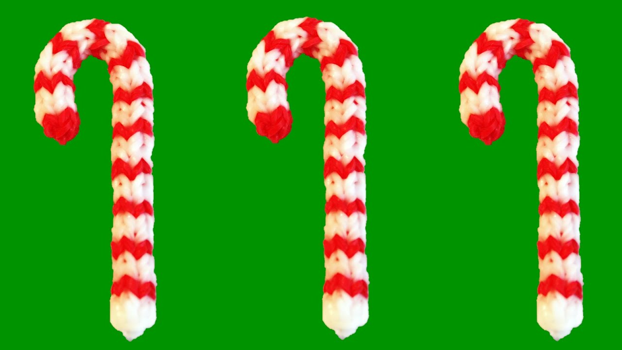 How to Make Loom Bands Christmas Candy Cane Rainbow Loom Christmas ...