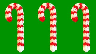How to Make Loom Bands Christmas Candy Cane Rainbow Loom Christmas Charms