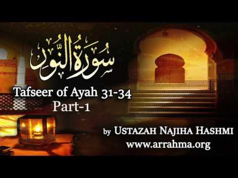 Tafseer of Surah An Noor Ayah 31-34 Part-1 by Ustazah Najiha Hashmi