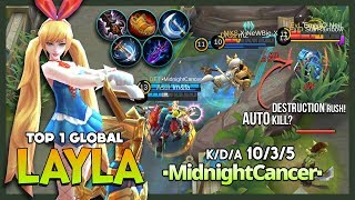 Okay Lesley! Your Sniper or My Cannon? ▪MidnightCancer▪ Top 1 Global Layla ~ Mobile Legends