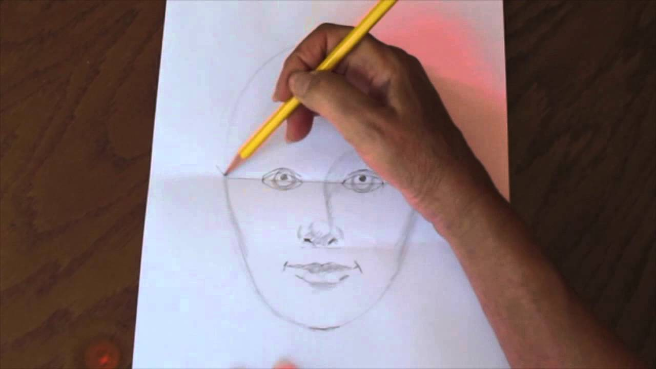 how to draw a quick simple and easy self portrait youtube