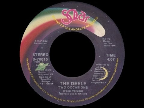 [1987] The Deele ∙ Two Occasions