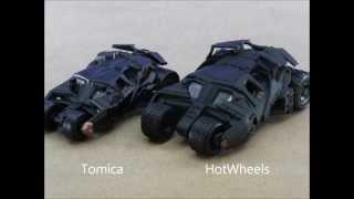 トミカとホットウィールの バットモービル・タンブラー比較です 比べて...
