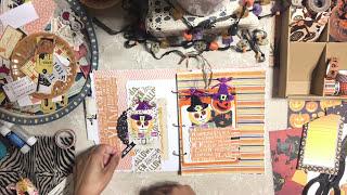 Halloween 🎃2017 Mini Album Process Video # 3 - October Daily - Memory Keeper