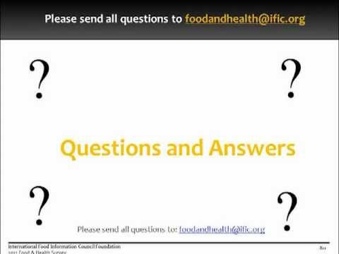 2012 Food and Health Survey - Health Professional Webcast