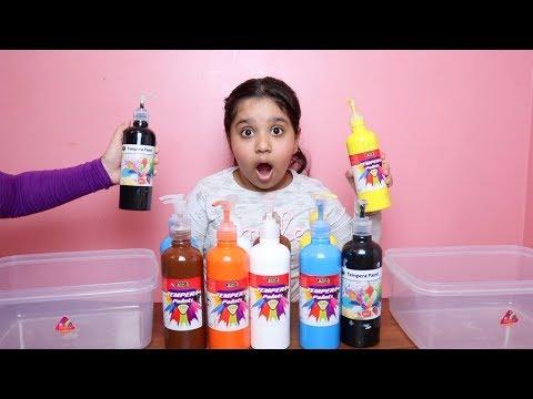 تحدي لا تختار ألوان السلايم الخاطئ !!! don't choose the wrong paint slime challenge