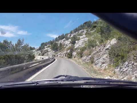 Montée du Mont Faron en voiture