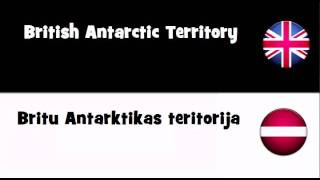 SAY IT IN 20 LANGUAGES = British Antarctic Territory
