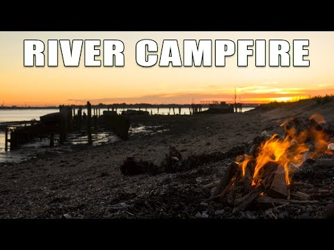River Campfire by Shipwreck and Abandoned Fort.