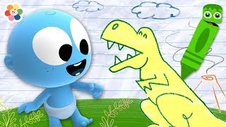 Colors for Children to Learn with Funny GooGoo Baby | Crayon Magic For Kids by BabyFirst