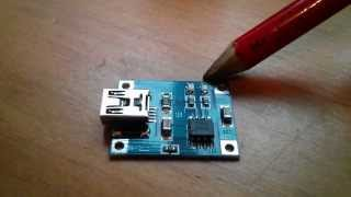 Charging a Lithium 18650 Cell using the TP4056