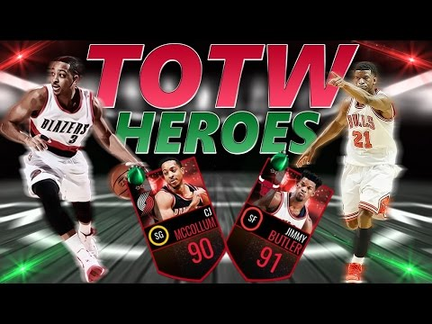 TOTW 90 CJ MCCOLLUM AND 91 JIMMY BUTLER FULL GAMEPLAY - NBA LIVE MOBILE