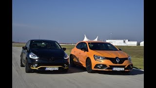 Renault Megane RS vs Renault Clio RS - test on track NAVAK by SAT TV Show