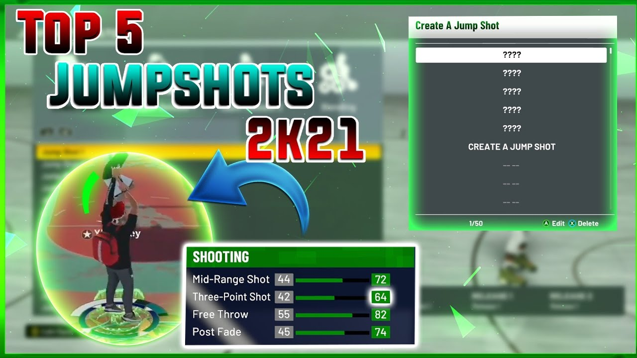 Top 5 BEST JUMPSHOTS in NBA 2K21 for Guards and Bigs! How to Shoot Greens With Low Stat Build Badges