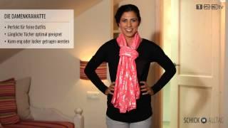 Schals perfekt binden: Teil 2 mit einfacher Anleitung zum Aufpeppen für feine und feminine Outfits thumbnail