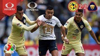 América saca la casta   América 2 - 2 Pumas   Apertura 2018 - J7   Televisa Deportes