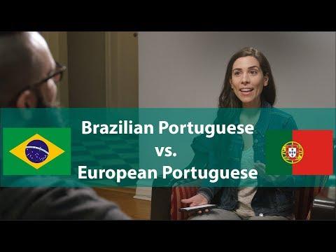 Brazilian Portuguese vs. European Portuguese