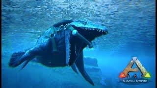 海の守護神 モササウルス現る! ARK ゆっくり実況 #24 - リアルマインクラフト