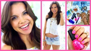 Get Ready With Me! ♥ Summer Makeup, Hair, and Outfit