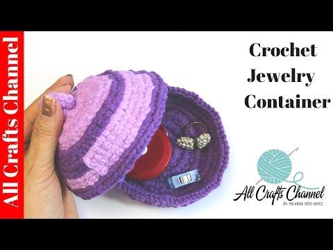How to Crochet Jewelry Dish / Small Container - Yolanda Soto Lopez