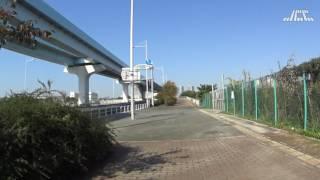 有明テニスの森駅から有明北橋(Ariake Tennis Park St.)|SONY HDR-AS50で撮影 161113